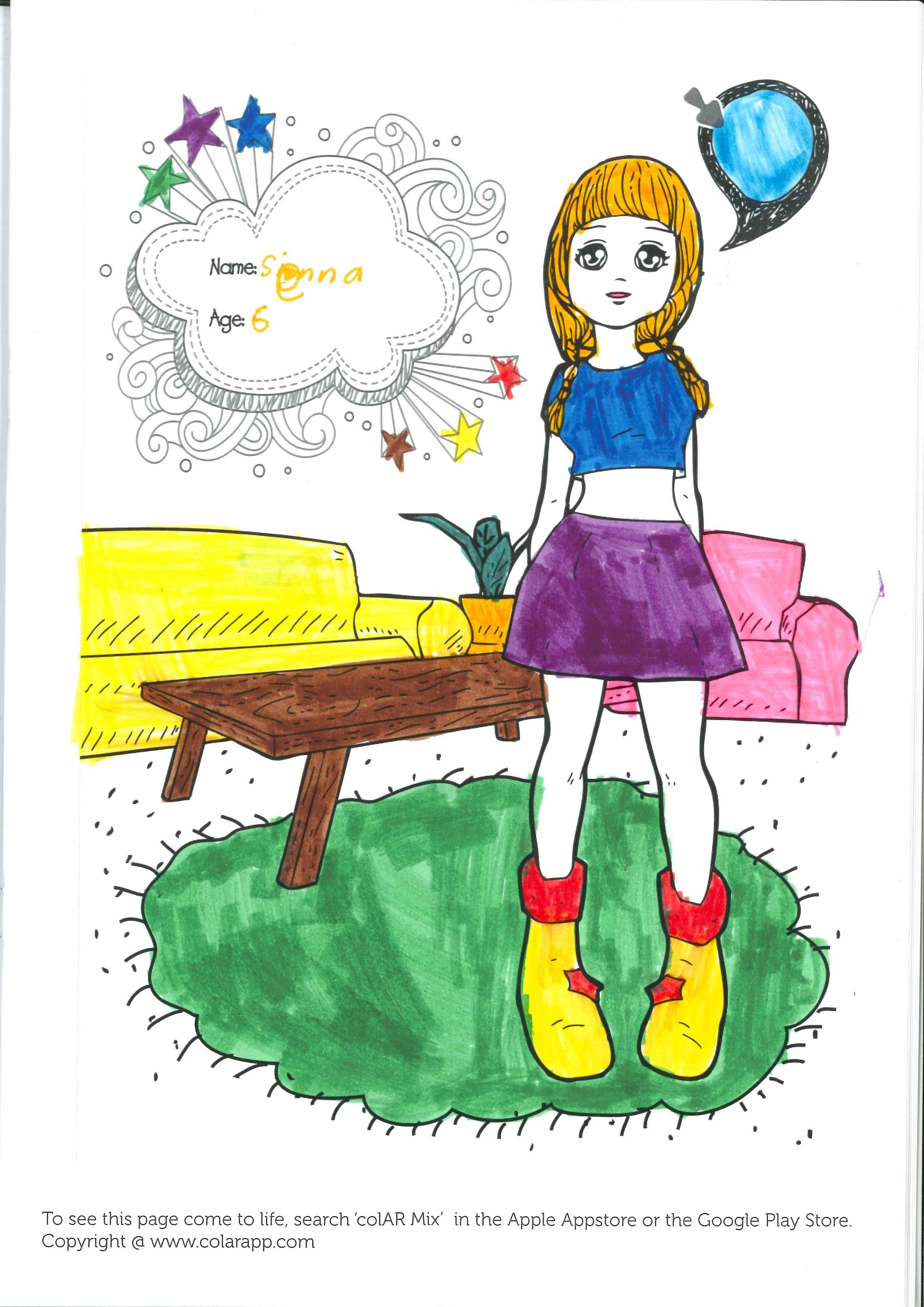 Colar mix kidsfest workshop books worth for Colar mix coloring pages