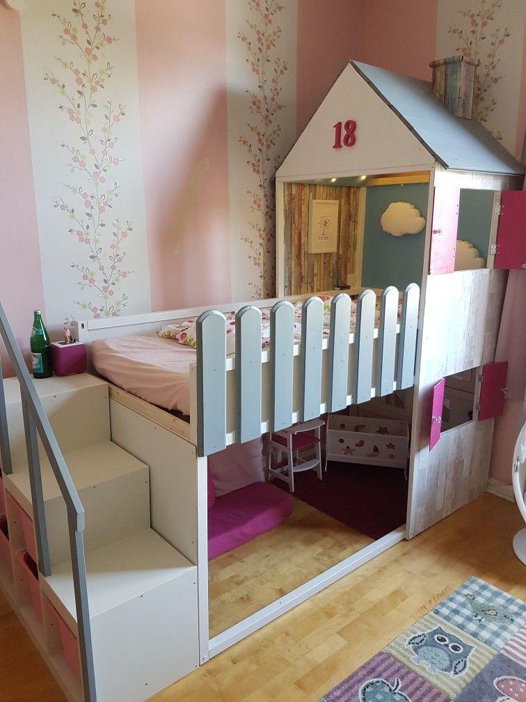 DIY Hausbett Hausbett, Kinder zimmer, Kinderzimmer