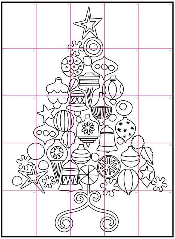 Warhol Christmas Tree Art Projects For Kids Christmas Tree Art Christmas Art Projects Christmas Tree Coloring Page