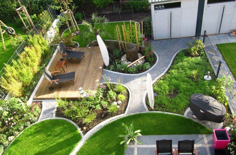 Garten Reihenhaus Reihenhaus Garten Nach Der Fertigstellung ...