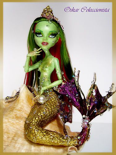 venus mermaid monster high ooak repaint doll custom no barbie fashion royalty ebay