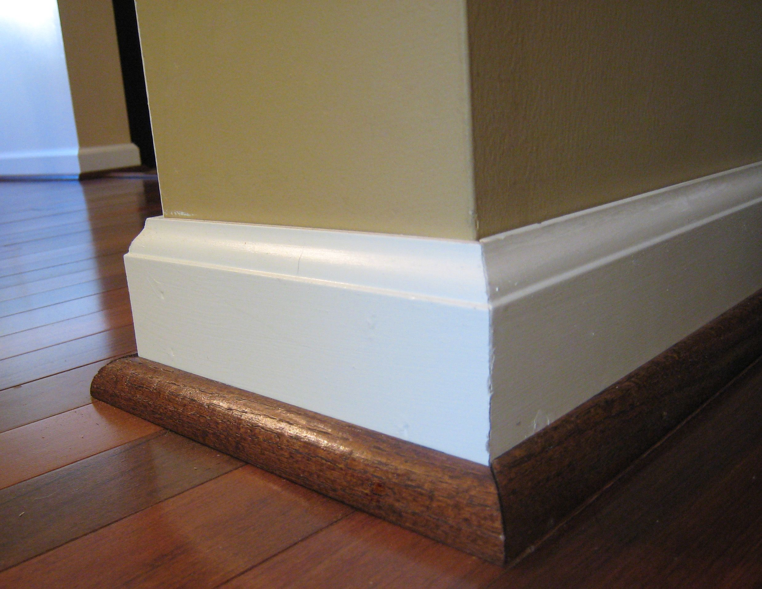 How to cut base molding in place - Picture Of Baseboard Styles And Molding
