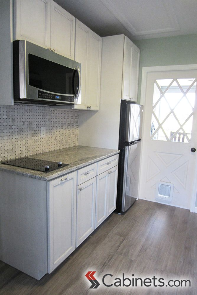 Compact Cute White Kitchen In A Mother In Law Suite Kitchenspiration Mother In Law Apartment In Law Suite Mother In Law Cottage