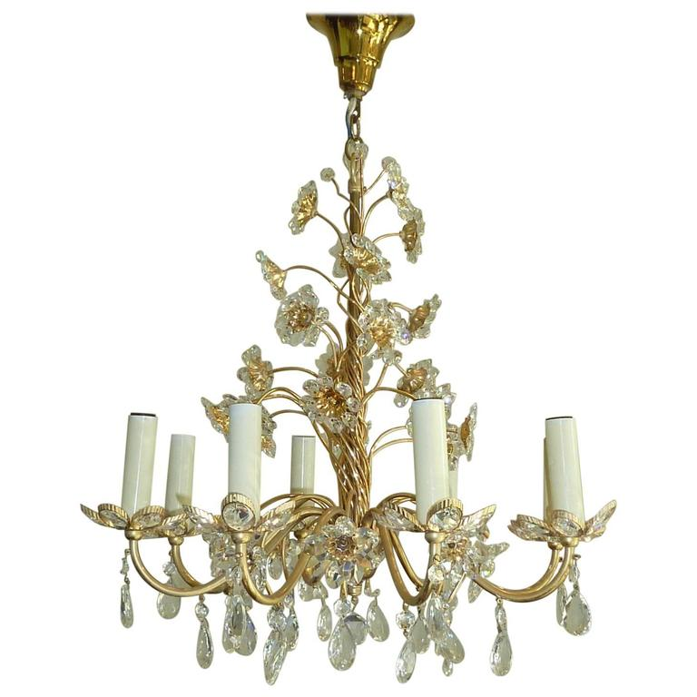 Beautiful Crystal Flowers Chandelier Palwa Germany From A Unique Collection Of Antique And Modern Chandeliers Pendants At