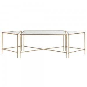 Alice Coffee Table Set Of 3 Contemporary Gl Metal Tail By Arteriors