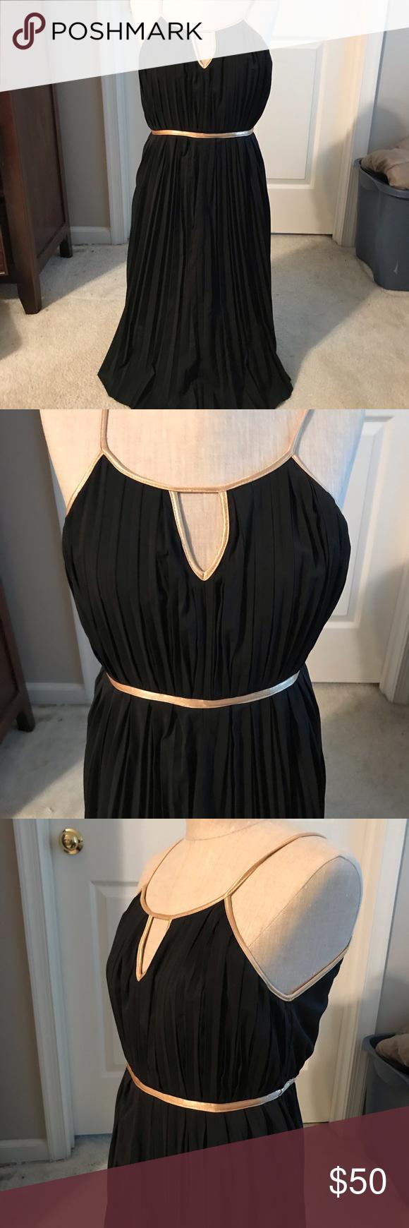 Grecian Style Accordion Pleat Black Dress W Gold Grecian Style Dress With Empire Waist And Accordion Pleats Gold Accent Black Pleated Dress Umgee Dress Style [ 1740 x 580 Pixel ]