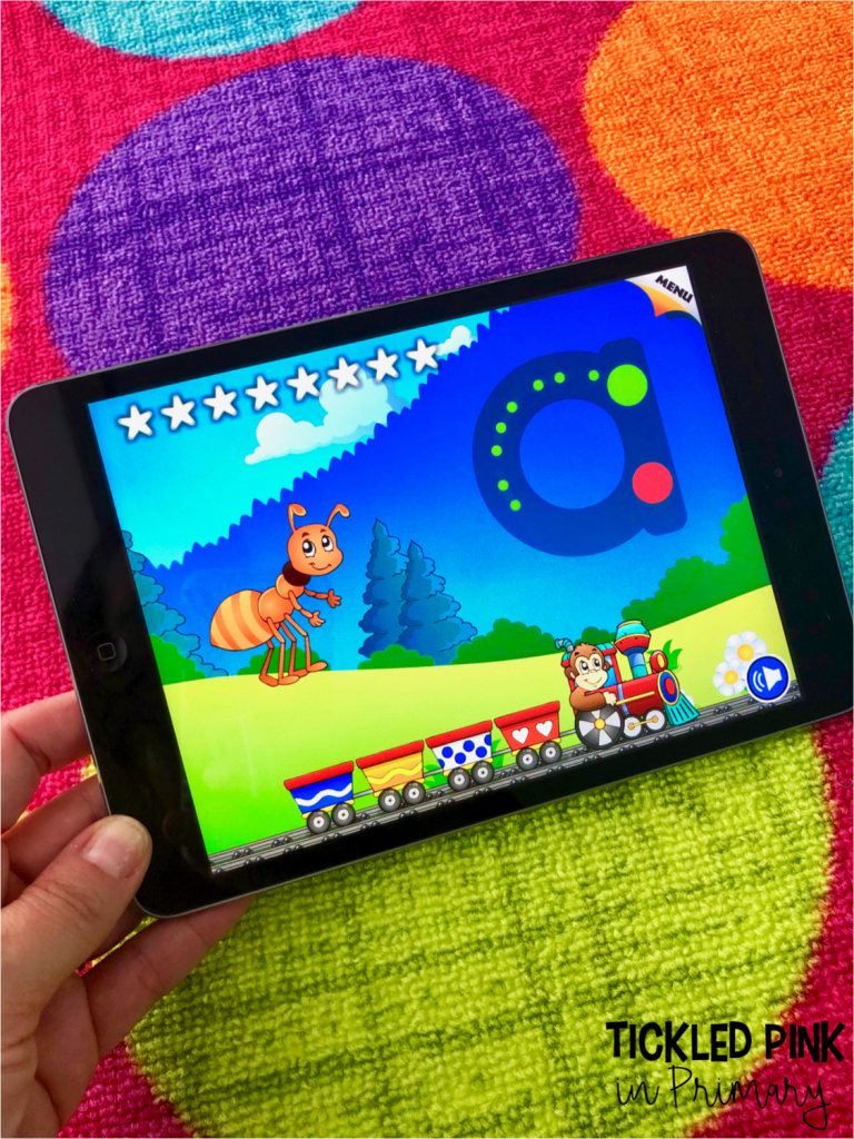 10 FREE Kindergarten iPad Apps • Tickled Pink in Primary