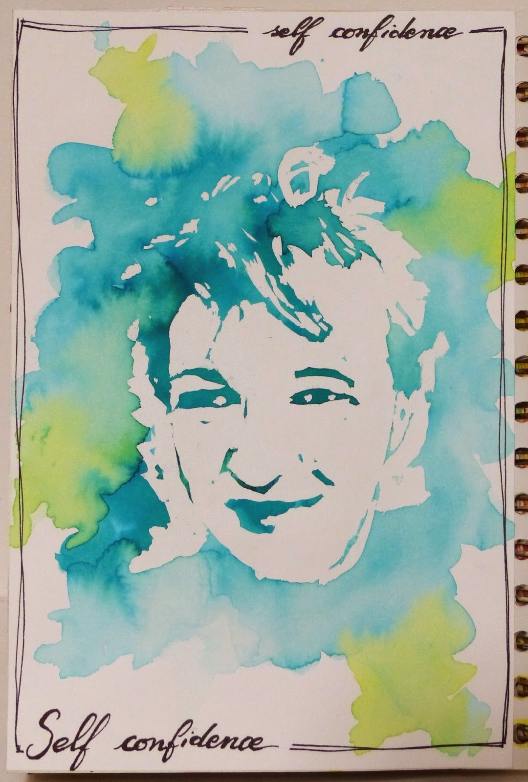 Mag Scrap Tutoriel Portrait Drawing Gum Et Aquarelle Drawing