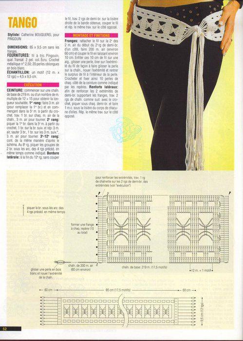 Patrones Crochet: Cinturon de Crochet Tango | 깡통 | Pinterest ...
