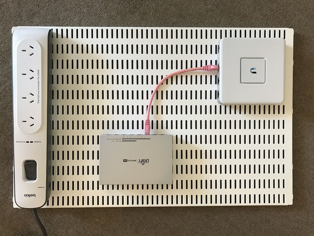 Network Wall Mount Test In Preparation For Moving To A New Apartment With Nbn Fttp I Ve Been Slowly Purchasing All New De Network Rack Home Network Diy Network