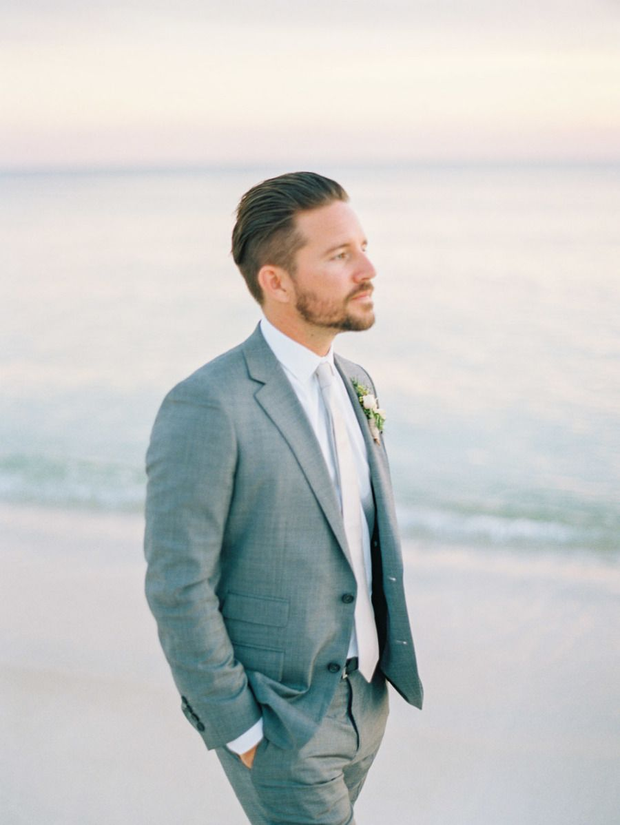 Modern Minimalist Rosemary Beach Wedding in Florida | Groom style ...