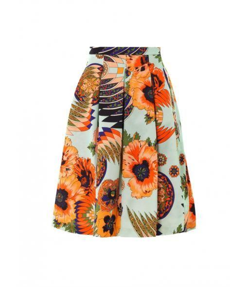 Hibiscus cotton blend fille skirt