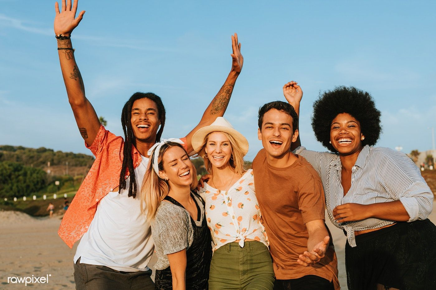Download Premium Image Of Group Of Diverse Friends Hanging
