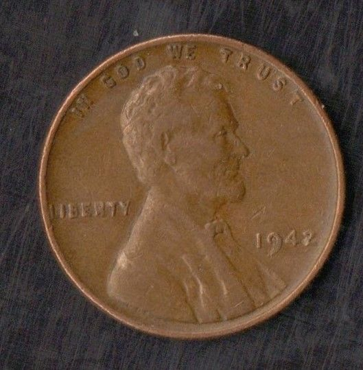 Lincoln Cent Wheat Penny No Mint Mark