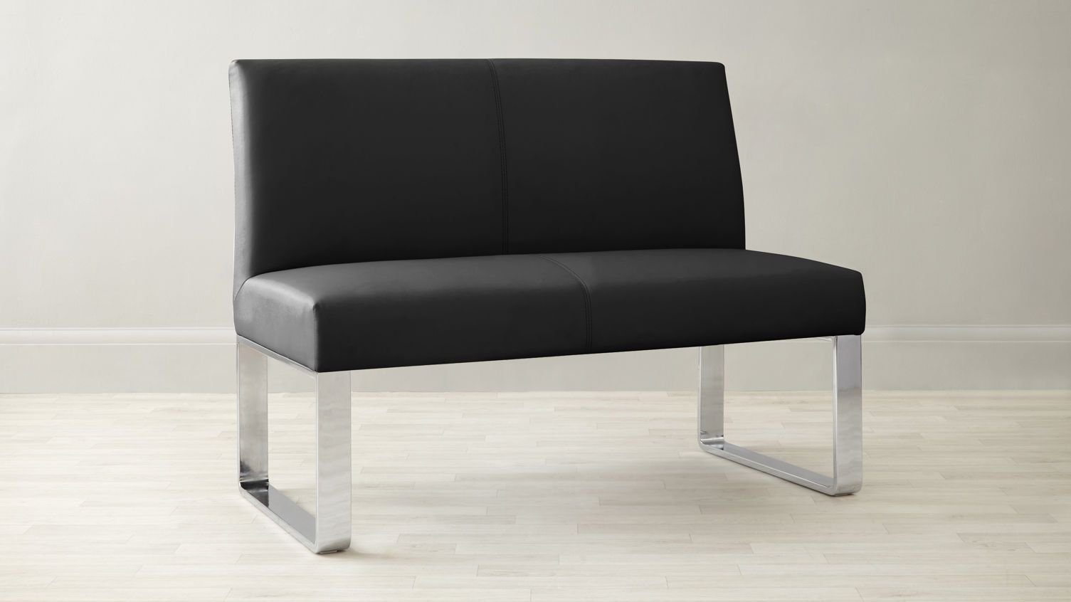 Loop 2 Seater Bench With Backrest Dining Bench With Back Dining