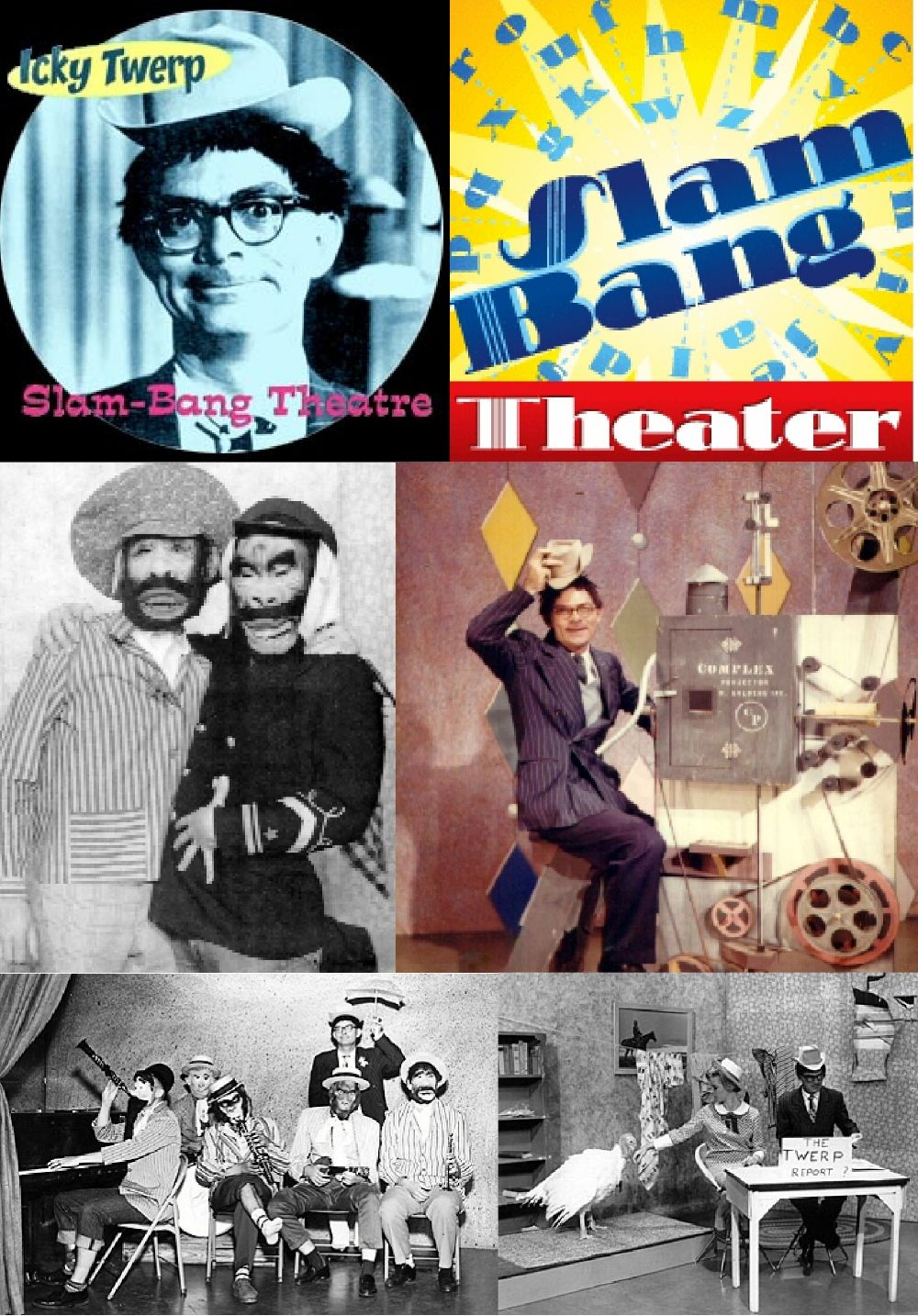 Icky Twerp and Slam Bang Theater.  A staple of growing up in The Dallas/ Fort Worth area in the 60's!!! This was a morning show before school!