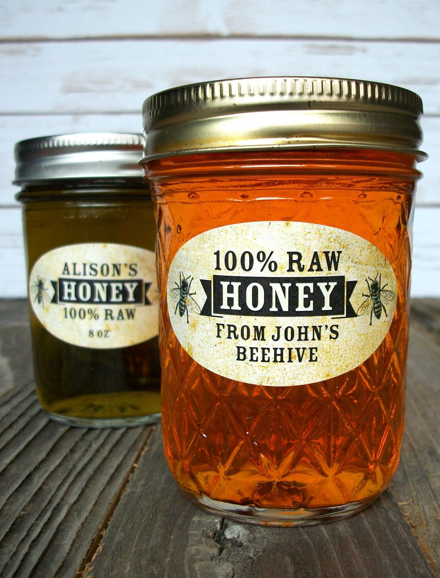 Personalized Honey Jar Labels