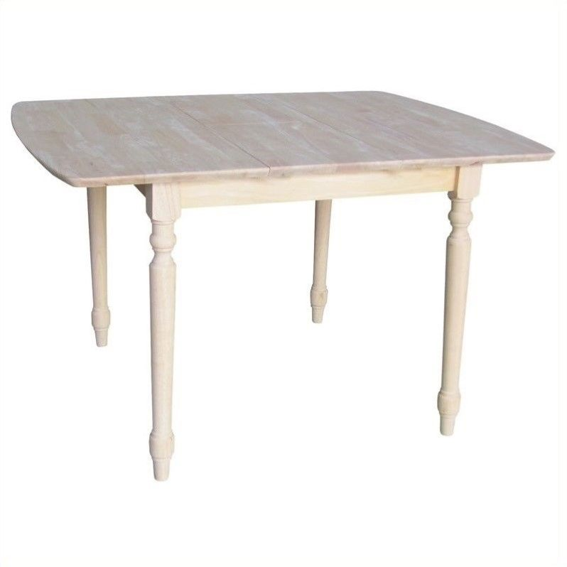 International Concepts Unfinished Square Rectangular Dining Table
