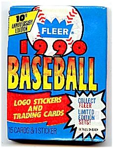 1990 Fleer Baseball Cards And Stickers Five Unopened