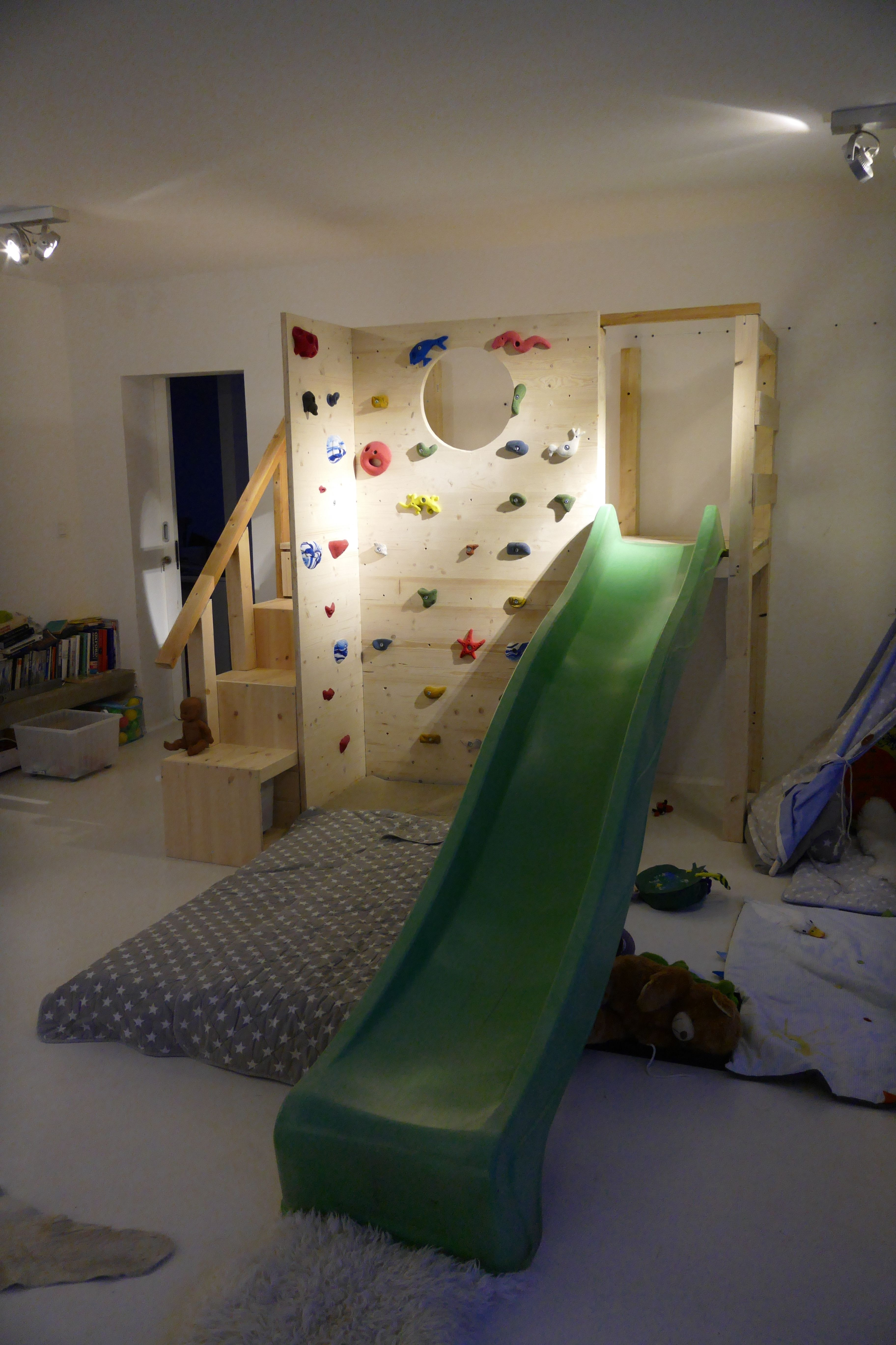 Ikea Hochbett Mit Rutsche Loft Bed With Climbing Wall And Slide #climbing #slide | Ikea Trofast, Ikea, Ikea Bed