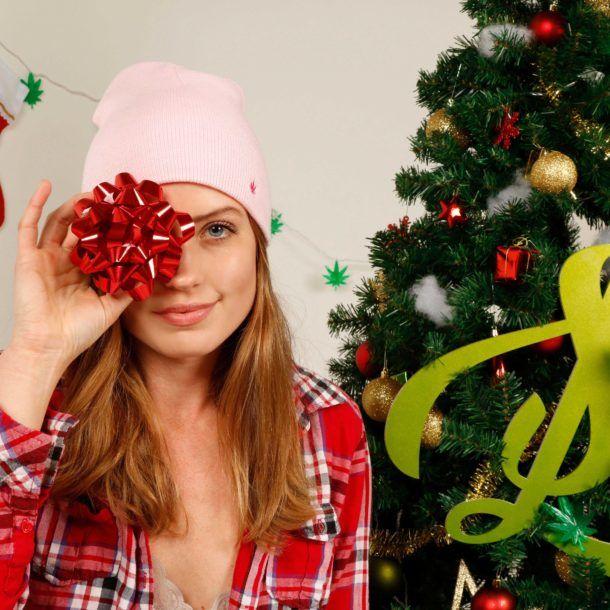 Pink Leaf Beanie   420 Christmas with Sweet Leaf! www.sweetleaf.life