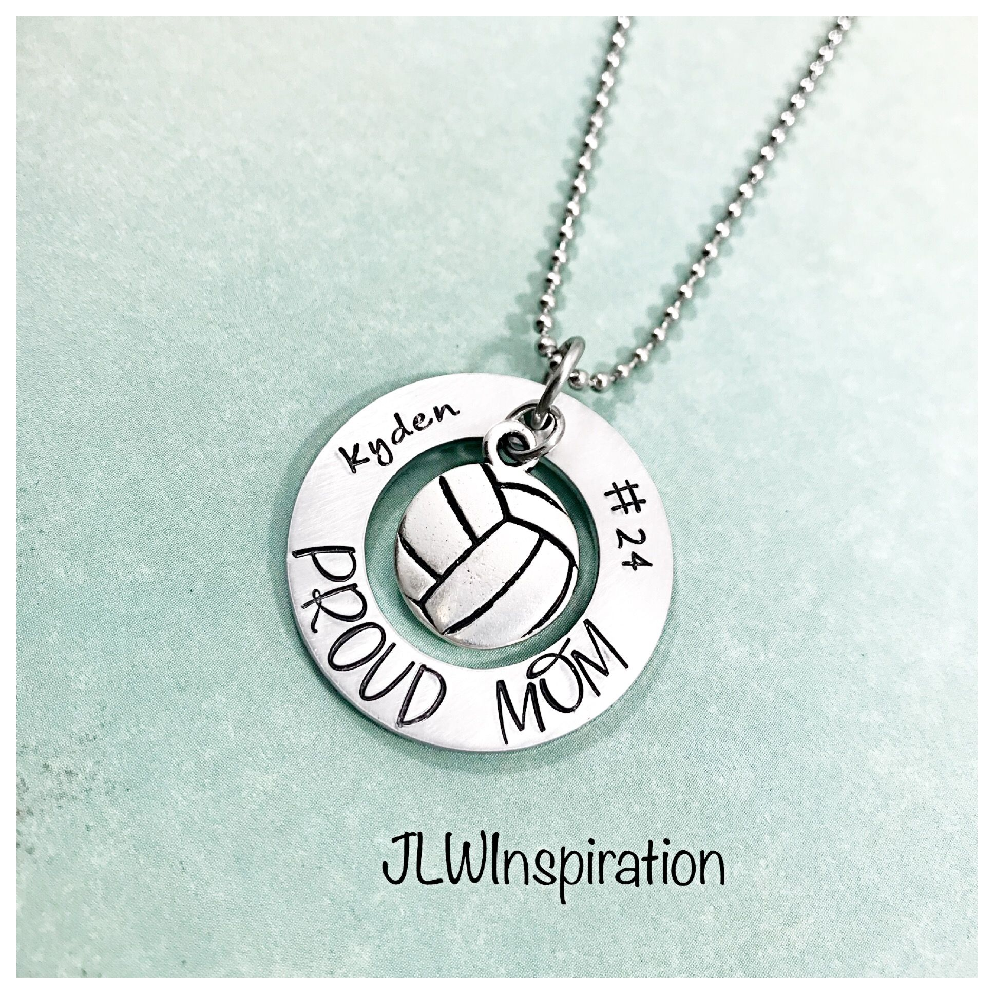 Www Jlwinspiration Com With Images Volleyball Necklace Necklace Proud Mom