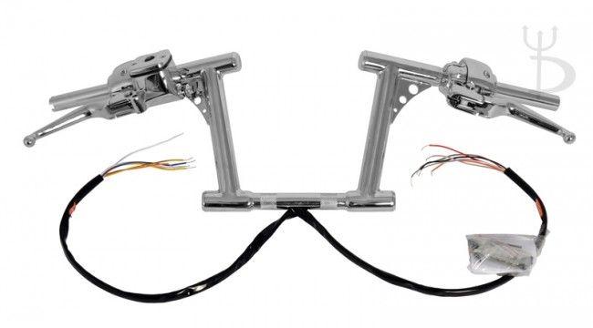 8 u0026quot  rise chrome rsd drag bars 1 4 u0026quot  handlebars with hand