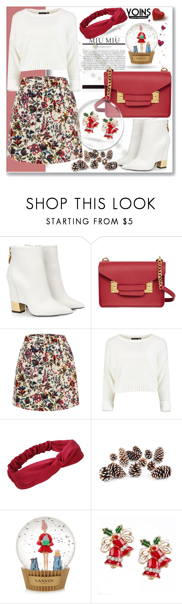 """""""Yoins VI"""" by nerma10 ❤ liked on Polyvore featuring Giuseppe Zanotti, Sophie Hulme, Knud Nielsen Company, Lanvin, MustHave and yoins"""