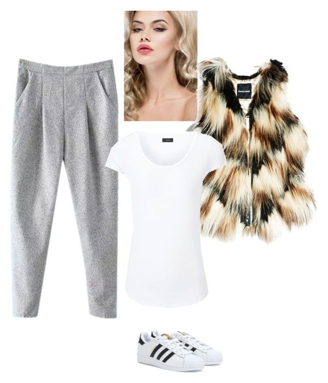 """""""Shell Top & Slacks"""" by sbcfashionstyling ❤ liked on Polyvore featuring adidas, GUESS by Marciano, Joseph, women's clothing, women, female, woman, misses and juniors"""