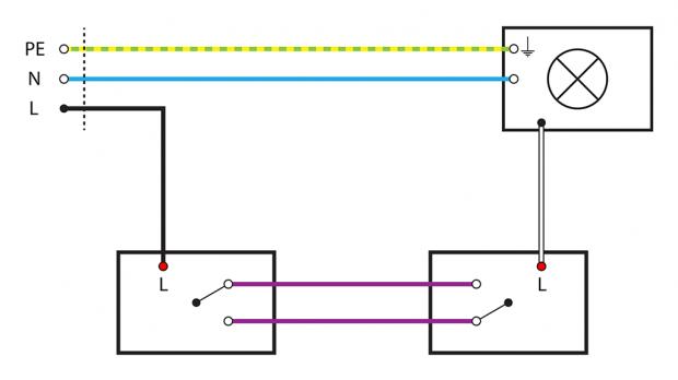 Basiswissen mit Schaltplan: Wechselschaltung | basic e-cct ...
