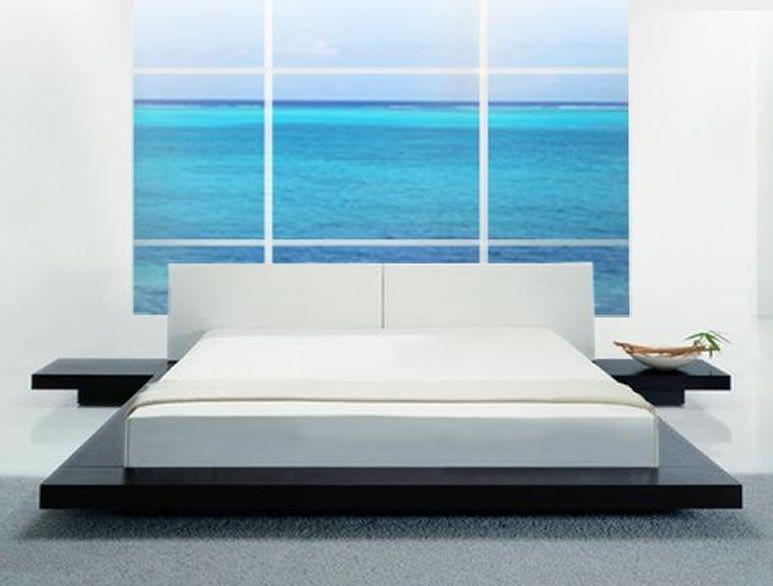 Opal Modern Low Profile Bed