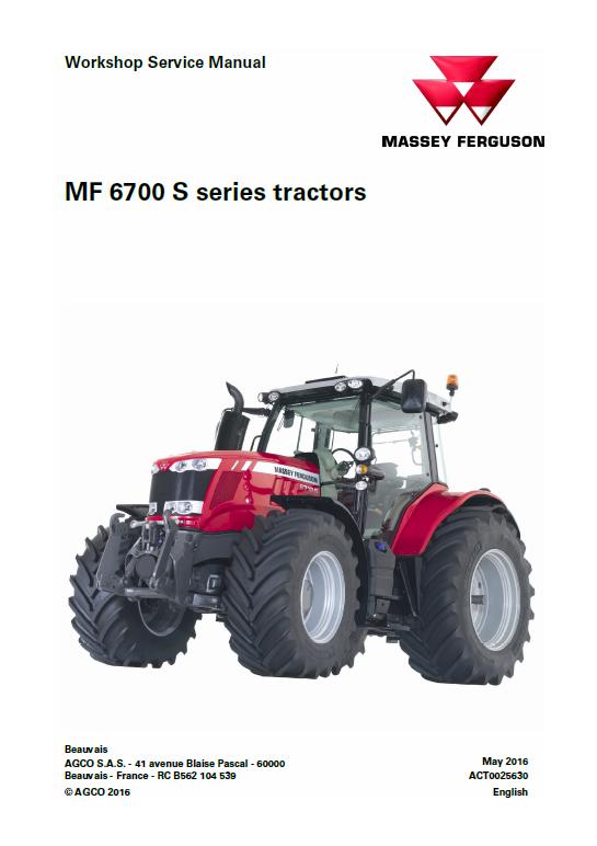 Massey Ferguson 6712s 6713s 6714s Tractor Service Manual Massey Ferguson Tractors Massey Ferguson Tractors