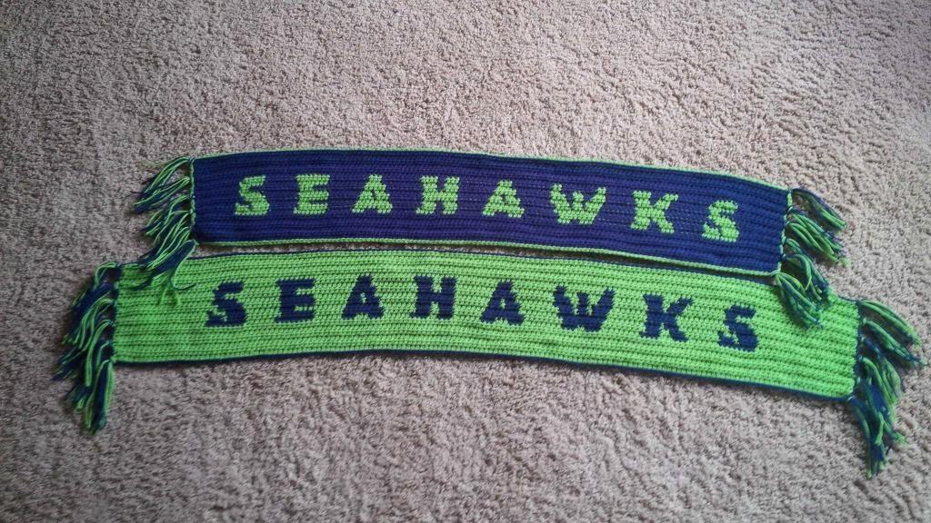 70d14cbd071 Seahawks Crochet Scarf Pattern!