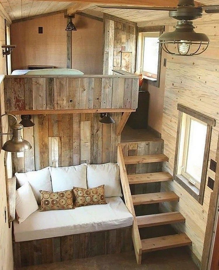 Diy Recycled Wood Pallet Ideas For Projects And Carfting Ideas Tiny House Bedroom Tiny House Decor Tiny House Living