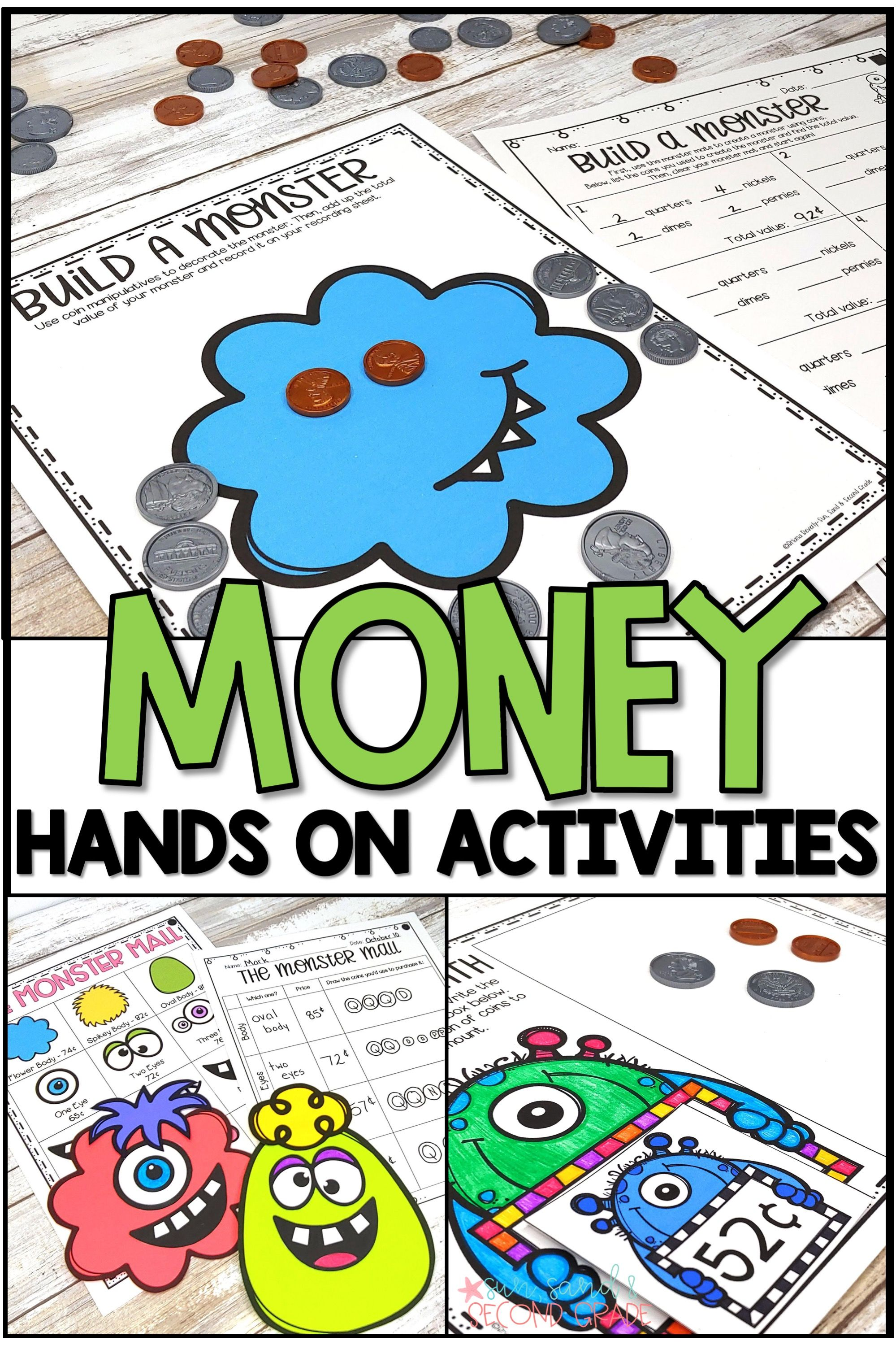 Money Unit Money Activities Task Cards Hands On Lessons
