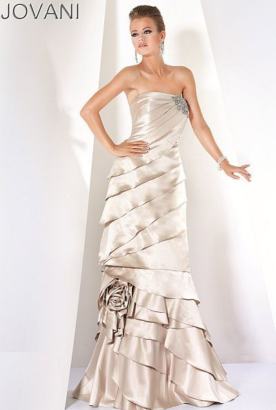 e4b033314a2 This Jovani evening dress is pretty enough to use for a wedding dress