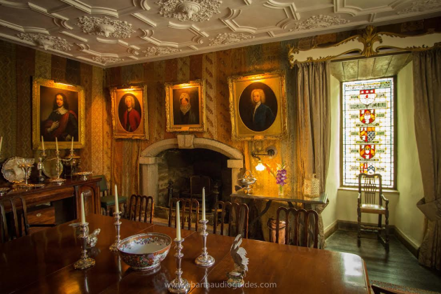 The Dining Room of Huntington Castle, County Carlow.