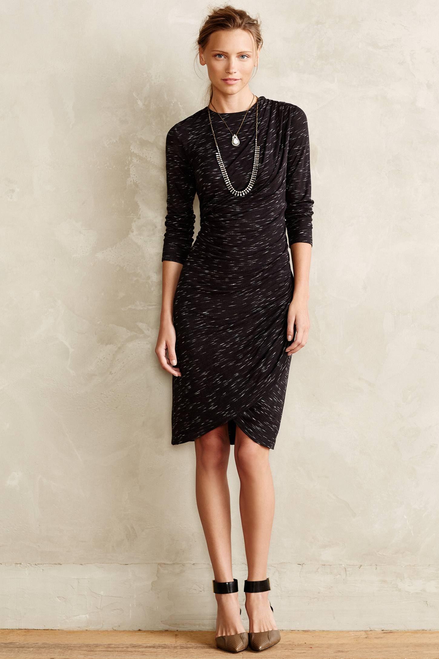 35c09e3408fa5 Cross Column Knit Dress #Anthropologie   Chic Feminine Elegant ...