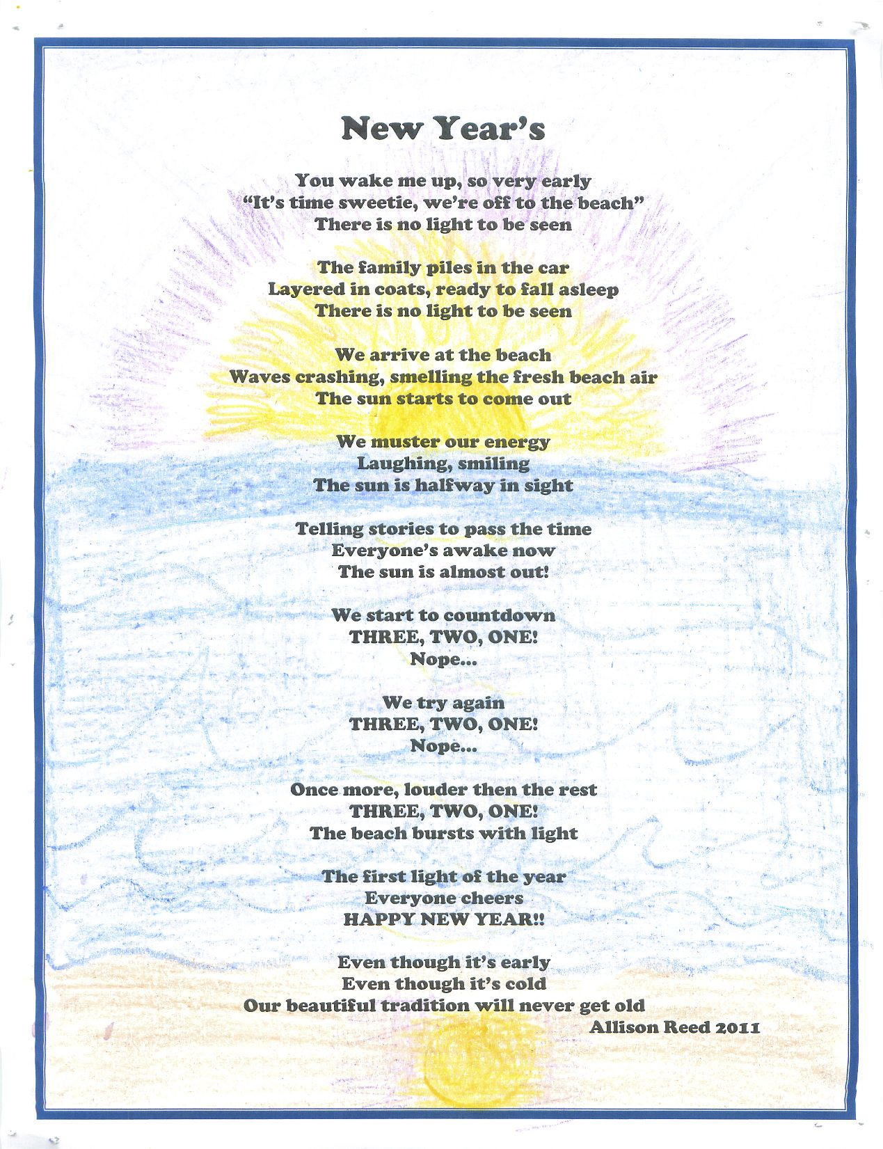 Christmas poems for church programs - New Years Poems New Year S Poem