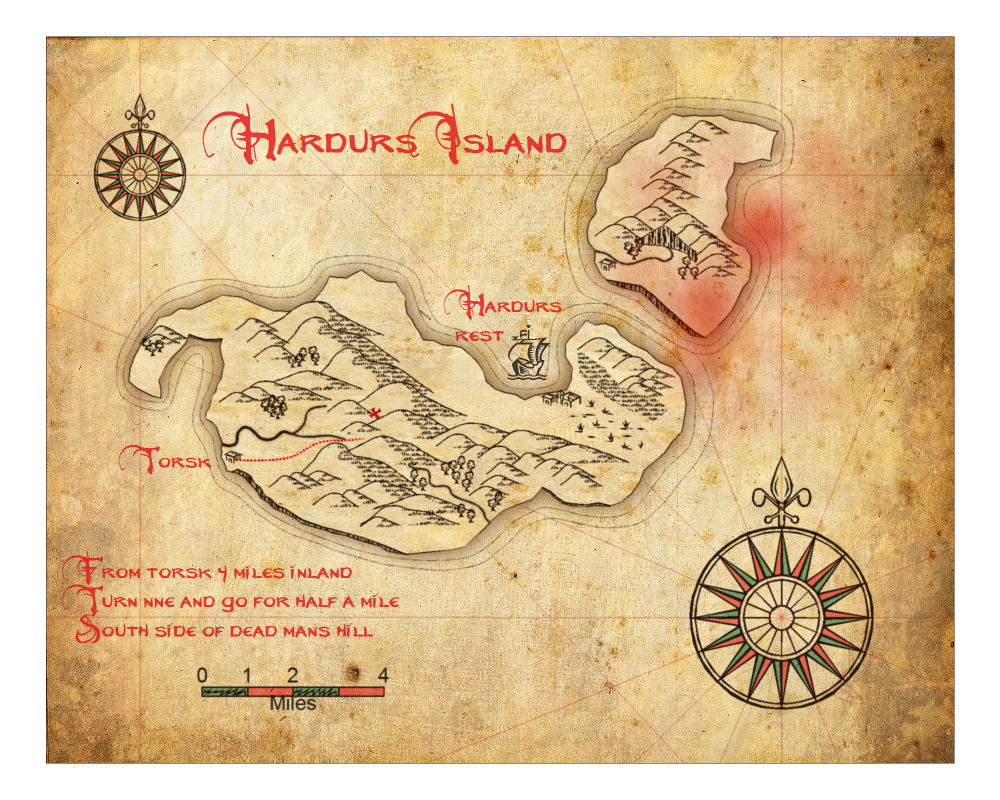 how to draw a treasure island map