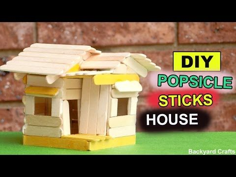 Diy popsicle sticks mini house easy crafts do it yourself diy popsicle sticks mini house easy crafts do it yourself youtube solutioingenieria Image collections
