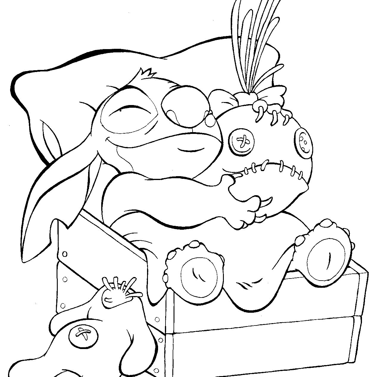 Free Lilo and Stitch Coloring Page