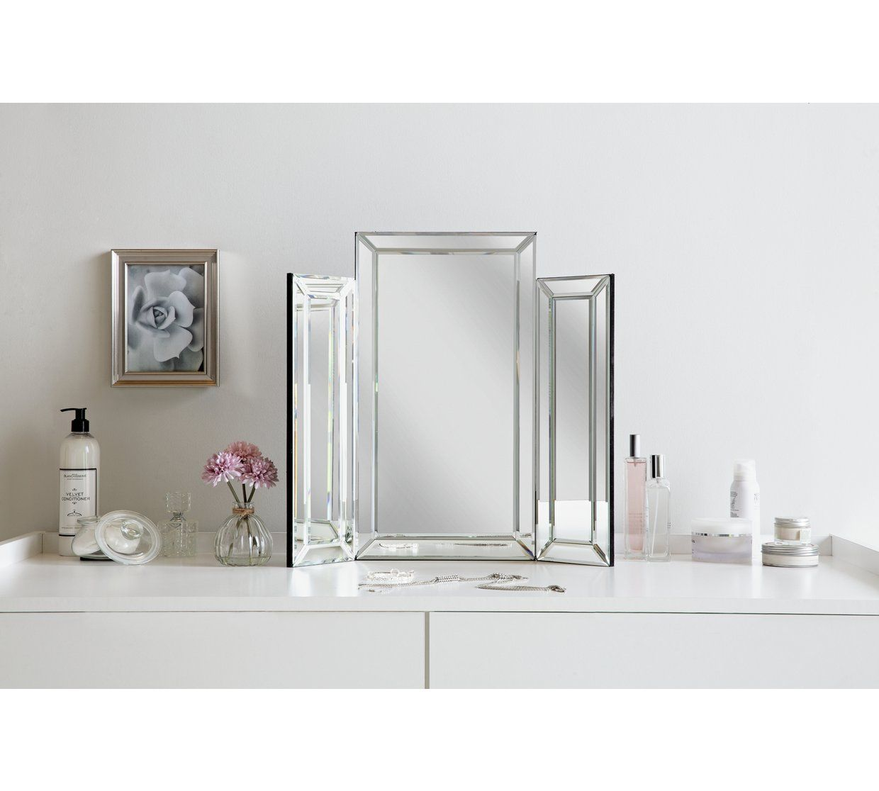 Buy Argos Home Bevelled Triple Dressing Table Mirror Mirrors Argos Dressing Table Mirror Mirror Table Argos Home