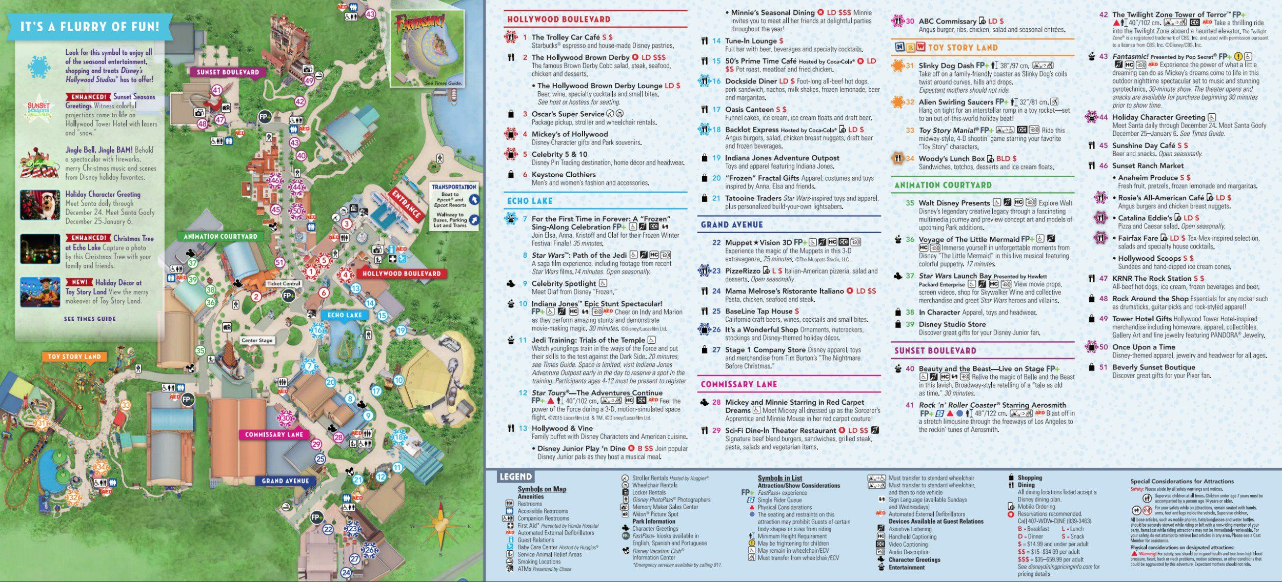 Disney Hollywood Studios map | Disney World in 2019 | Disney world ...