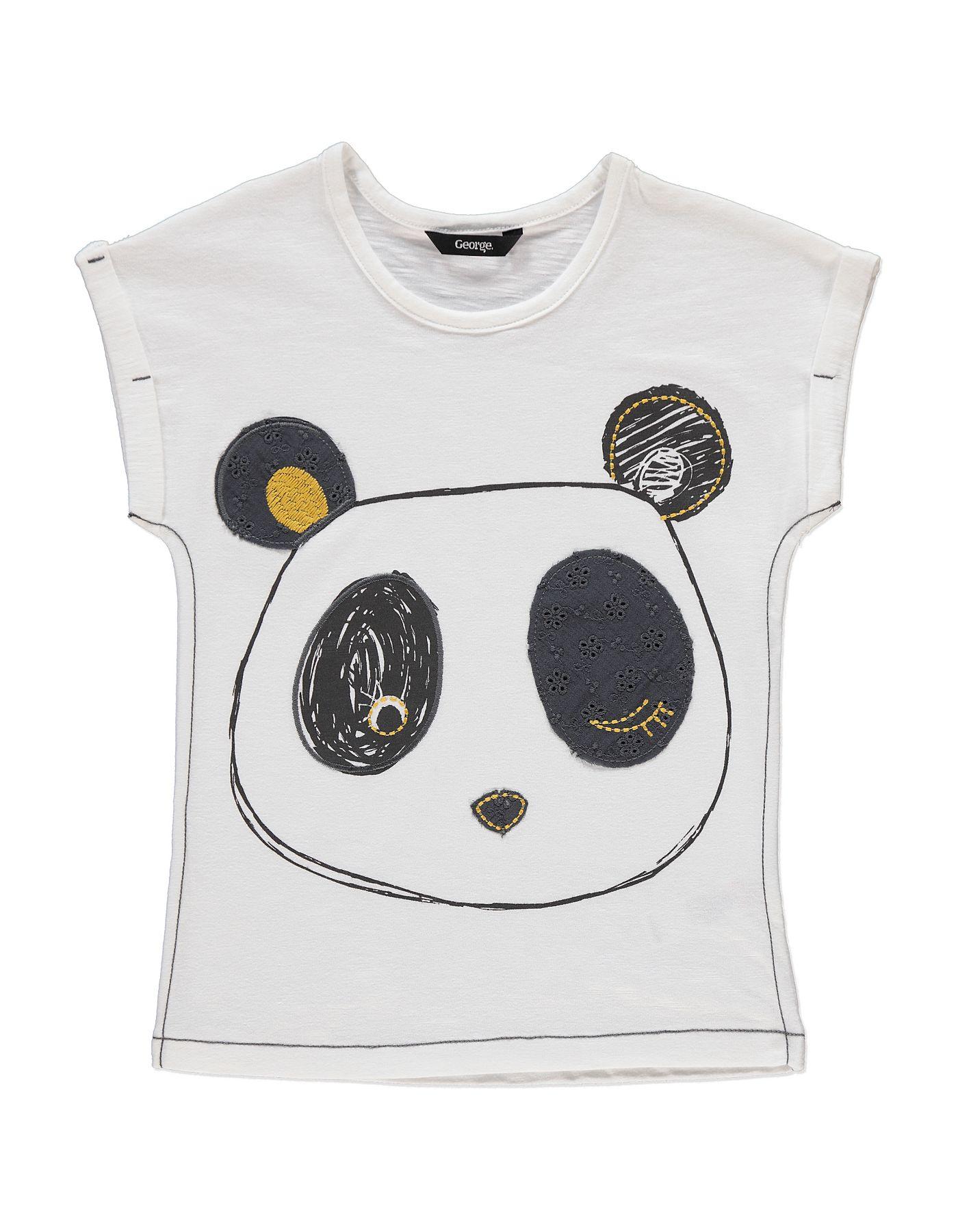 Panda Face T-shirt   blusas decoradas   Ropa para niñas, Ropa y Niños