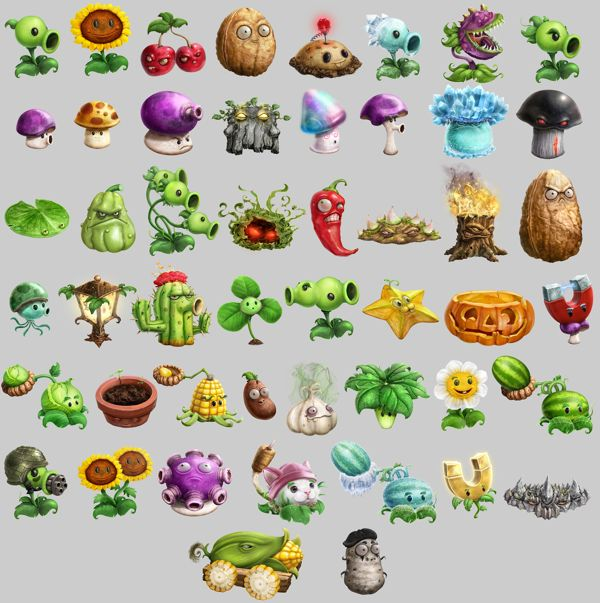 Pin By Wang Cindy On 2d Characters Plants Vs Zombies Plant Zombie Game Concept Art