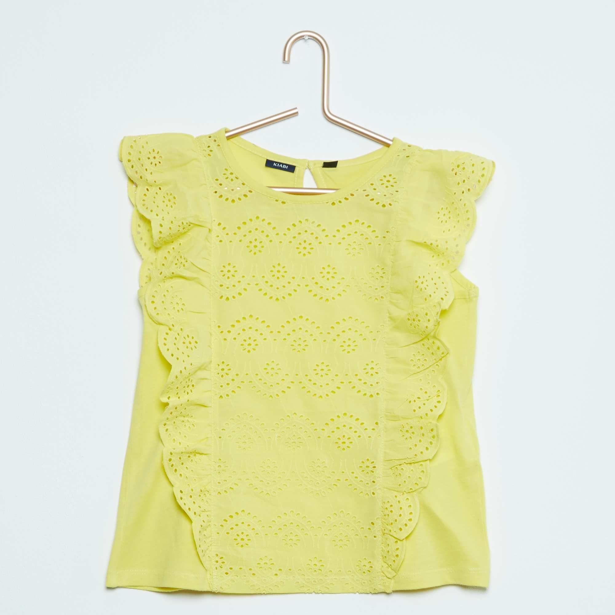 53142e05a1e Camiseta sin mangas con bordado inglés Chica - Kiabi - 10