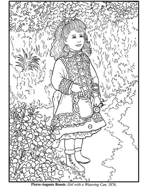 printable coloring pages of masterpieces - photo#14