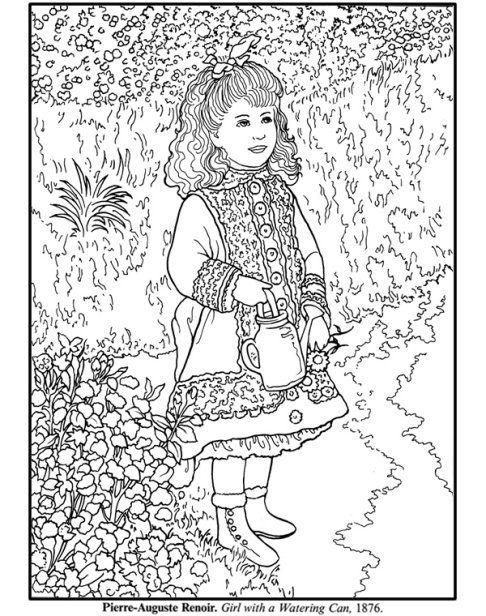 Masterpiece Coloring Page Free Printable Pierre Auguste Renoir