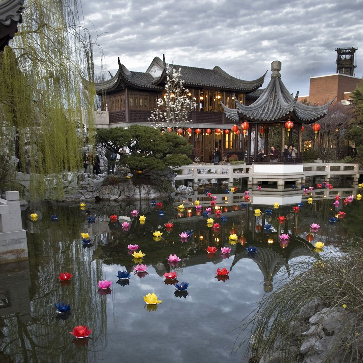 Lan Su Chinese Garden, located in NW Portland, you enter